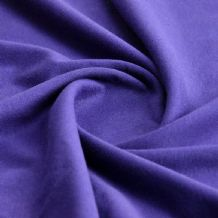 Purple - Plain 100% Cotton Interlock Double Jersey